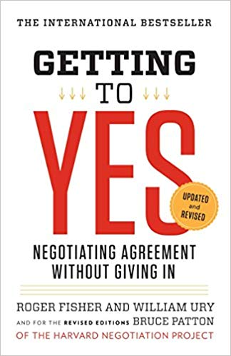 Getting to Yes Negotiating Tactic Book Cover