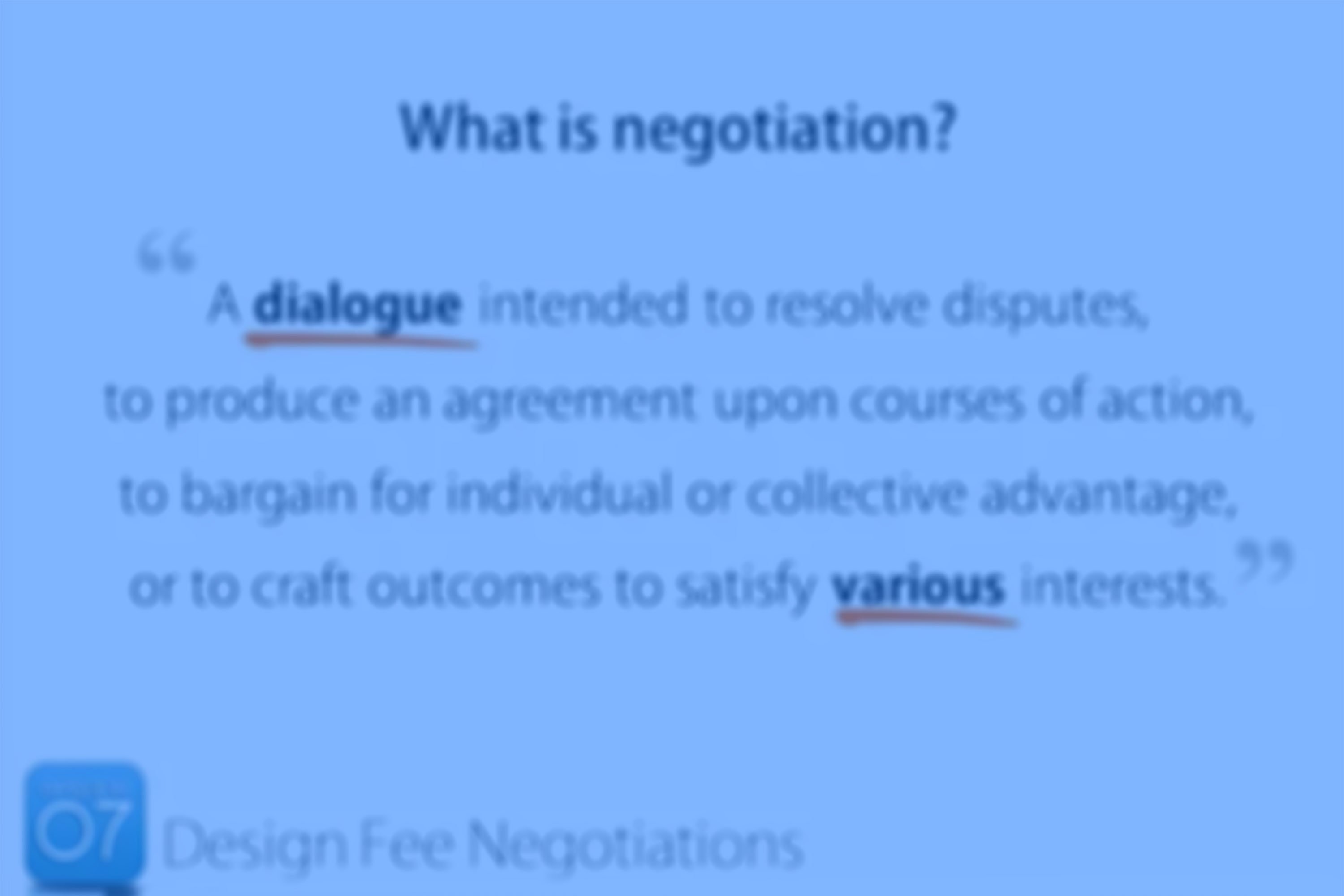 Episode 07: Design Fee Negotiations