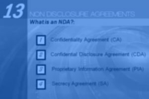 Episode 13: Introduction to Non-Disclosure Agreements