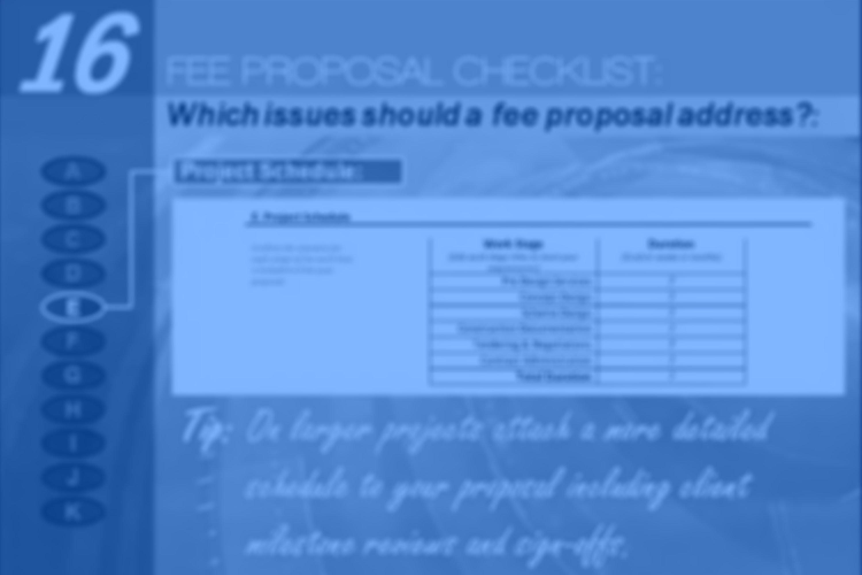 Episode 16: Architectural Fee Proposal Checklist