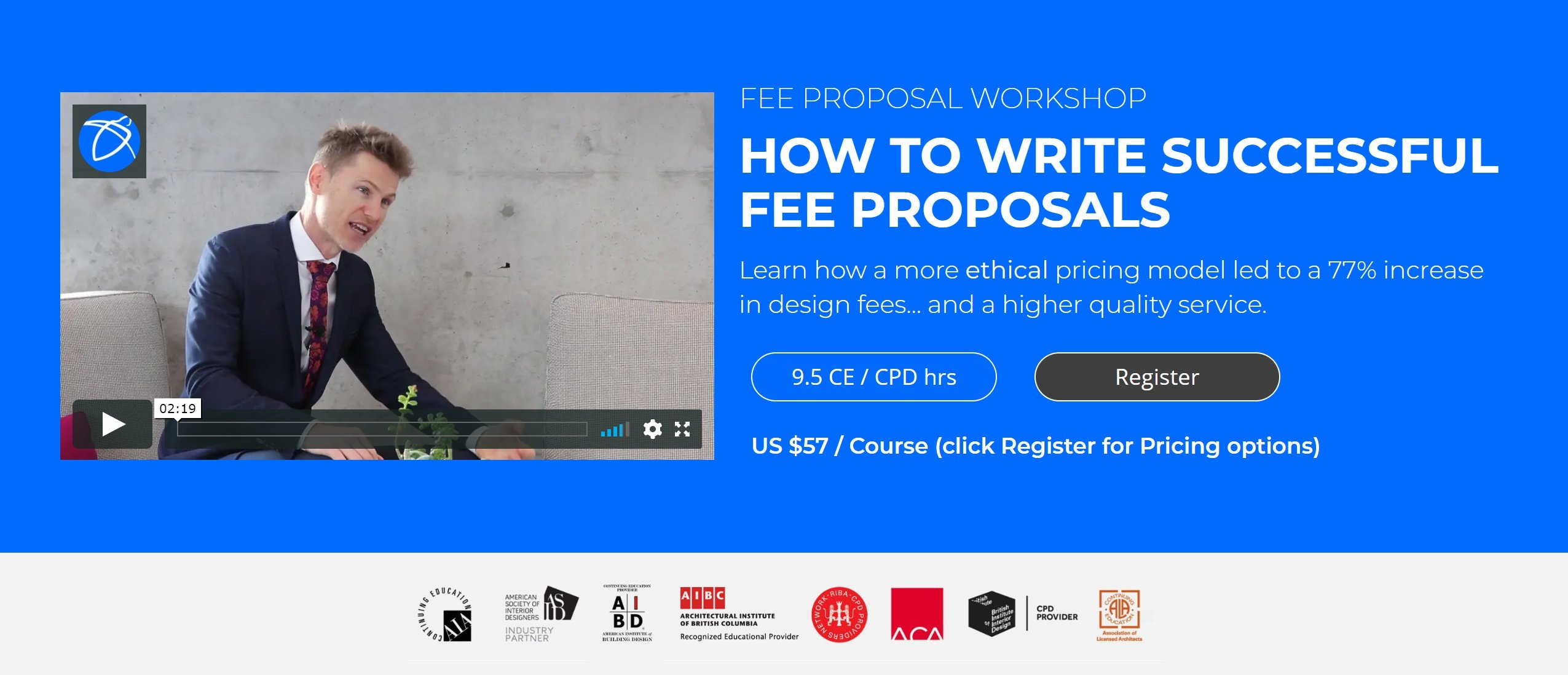 Fee Proposal Workshop Header Image